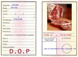 Certificato D.O.P.