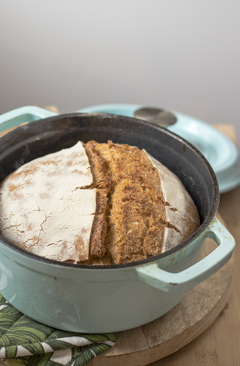 pane rustico cotto in pentola